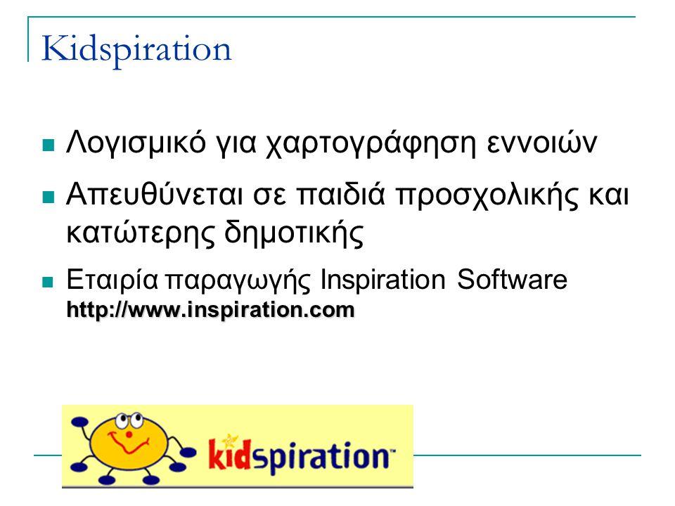 Κidspiration Λογισμικό για χαρτογράφηση εννοιών
