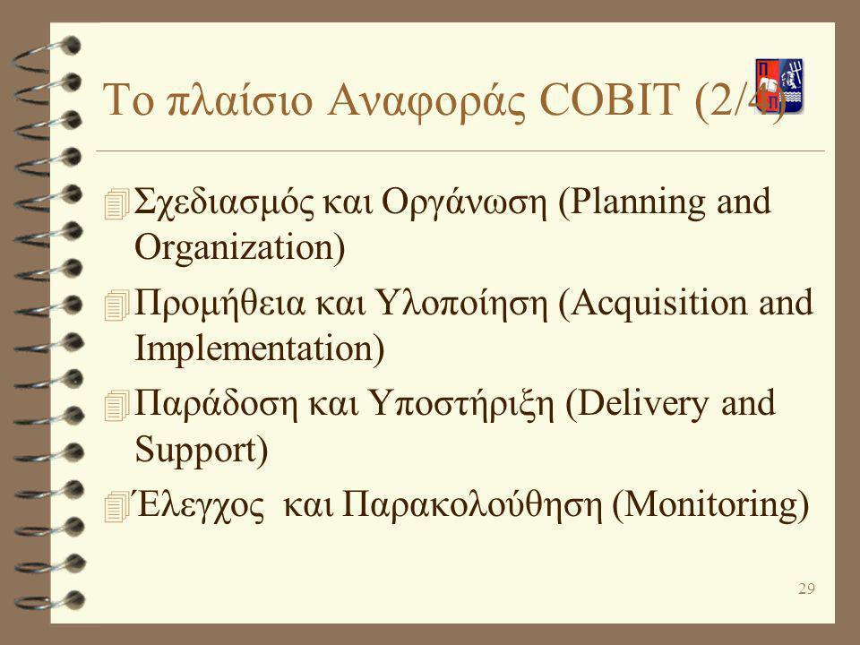 Το πλαίσιο Αναφοράς COBIT (2/4)