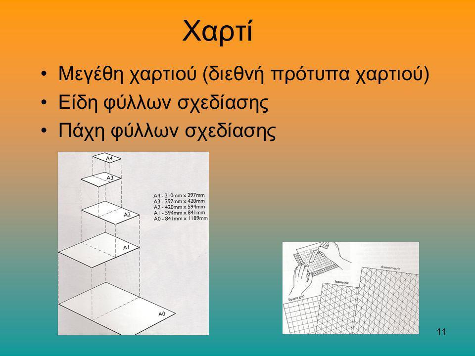 Χαρτί Μεγέθη χαρτιού (διεθνή πρότυπα χαρτιού) Είδη φύλλων σχεδίασης