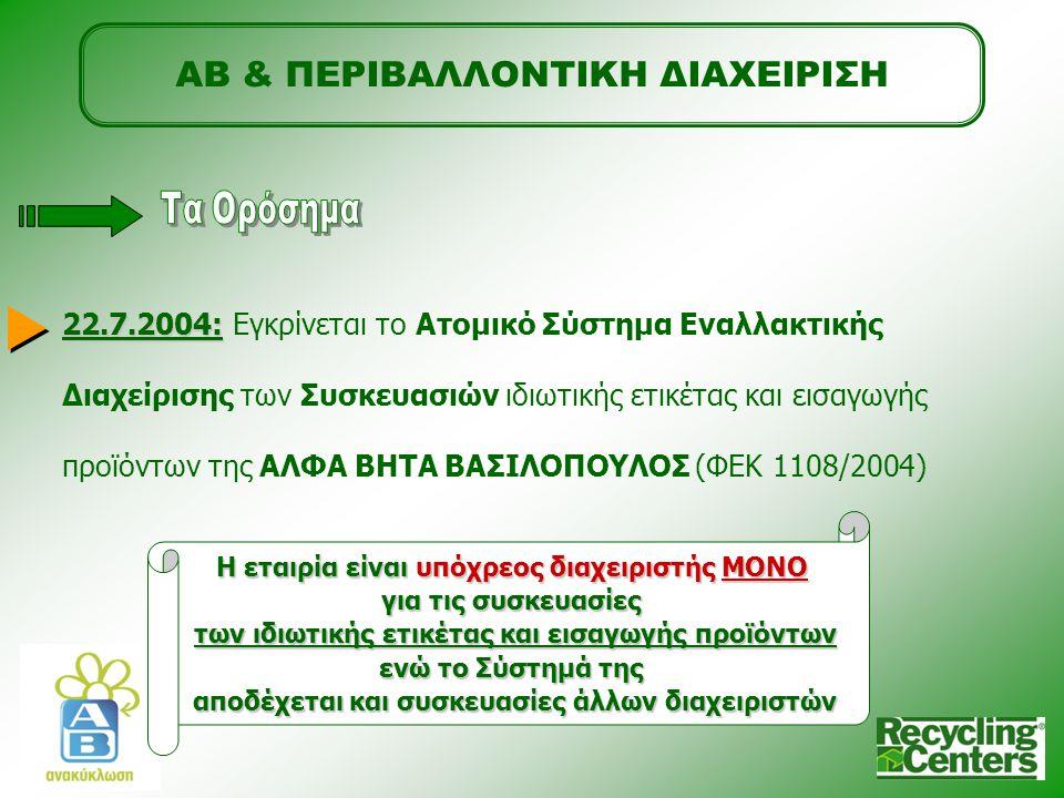 ΑΒ & ΠΕΡΙΒΑΛΛΟΝΤΙΚΗ ΔΙΑΧΕΙΡΙΣΗ