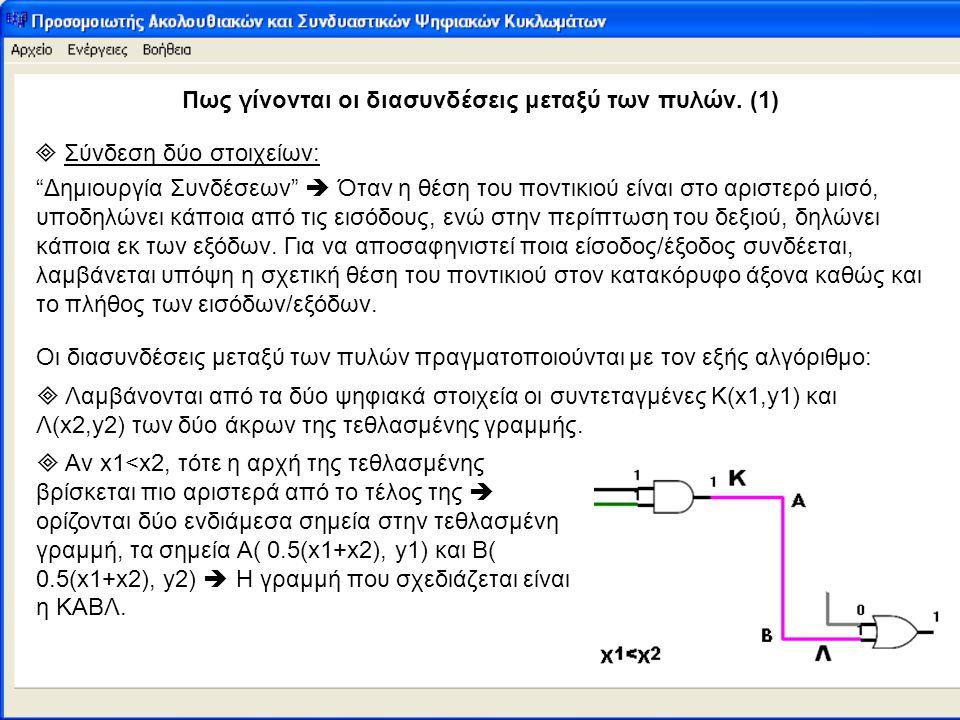 Πως γίνονται οι διασυνδέσεις μεταξύ των πυλών. (1)