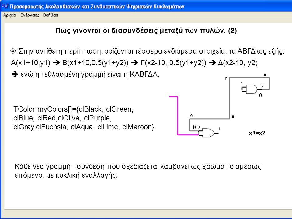 Πως γίνονται οι διασυνδέσεις μεταξύ των πυλών. (2)