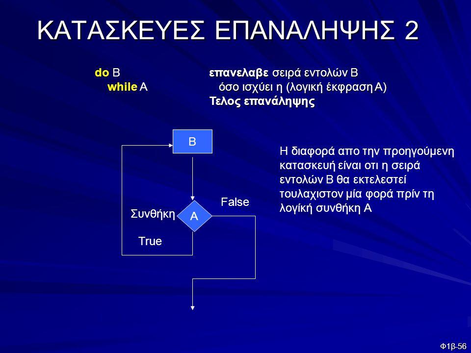 ΚΑΤΑΣΚΕΥΕΣ ΕΠΑΝΑΛΗΨΗΣ 2