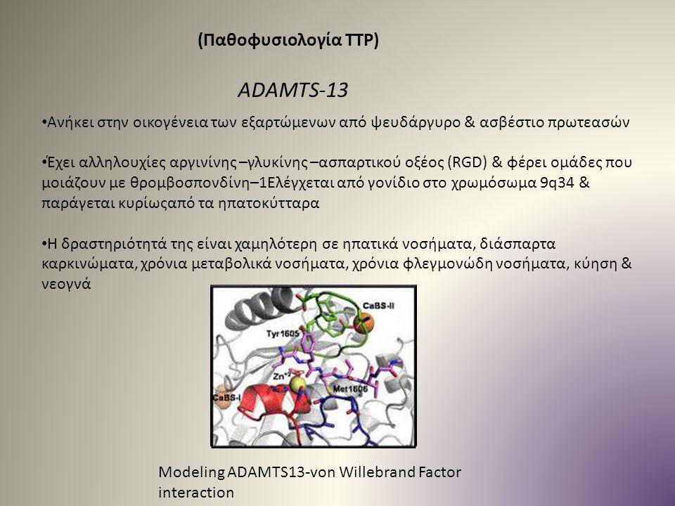 ADAMTS-13 (Παθοφυσιολογία TTP)