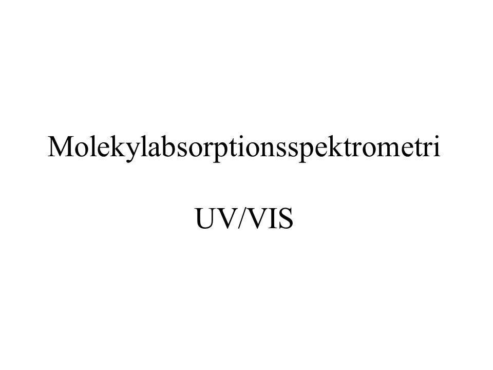 Molekylabsorptionsspektrometri UV/VIS