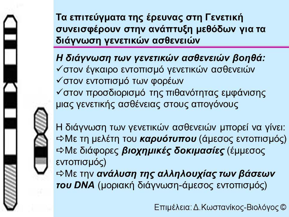 Η διάγνωση των γενετικών ασθενειών βοηθά: