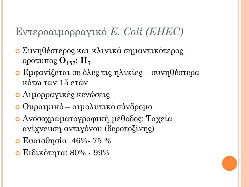 Εντεροαιμορραγικό E. Coli (EHEC)