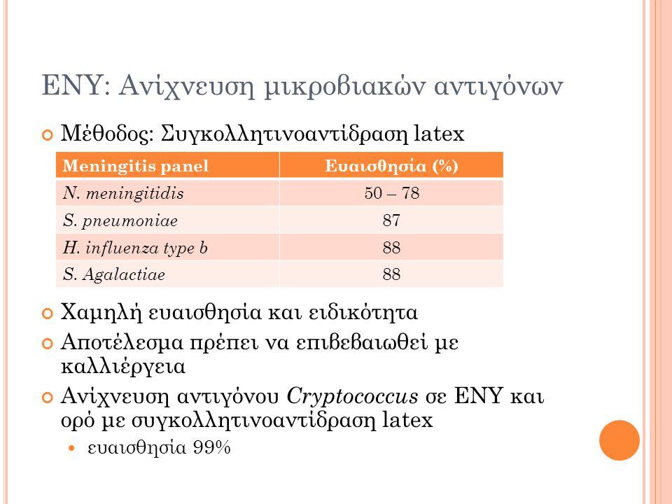 ΕΝΥ: Ανίχνευση μικροβιακών αντιγόνων