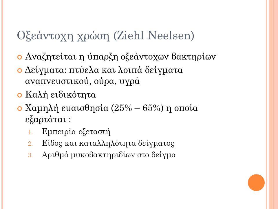 Οξεάντοχη χρώση (Ziehl Neelsen)