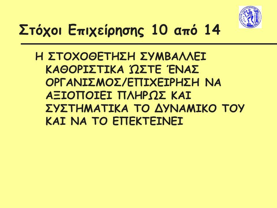 Στόχοι Επιχείρησης 10 από 14