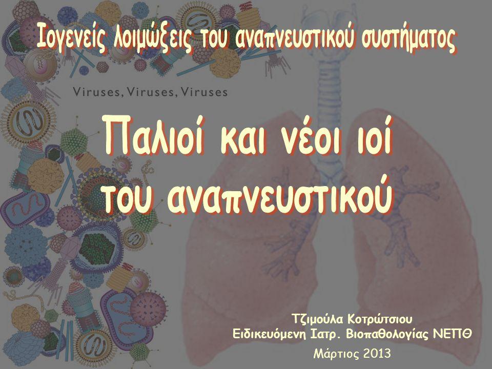 Ιογενείς λοιμώξεις του αναπνευστικού συστήματος