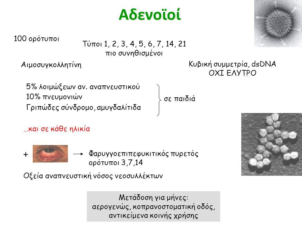 Αδενοϊοί + 100 ορότυποι Τύποι 1, 2, 3, 4, 5, 6, 7, 14, 21