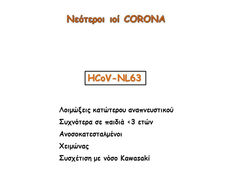 Νεότεροι ιοί CORONA HCoV-NL63 Λοιμώξεις κατώτερου αναπνευστικού