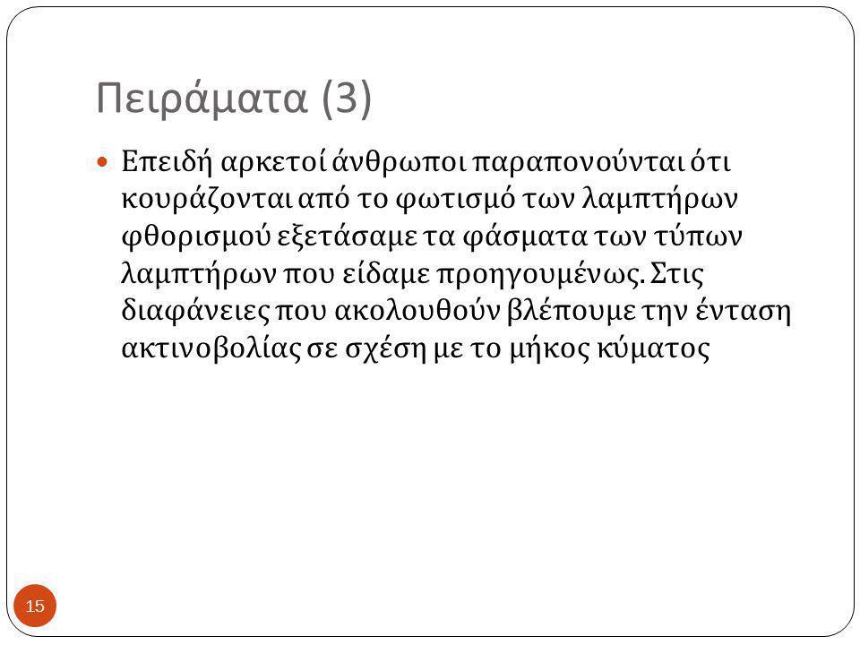 Πειράματα (3)