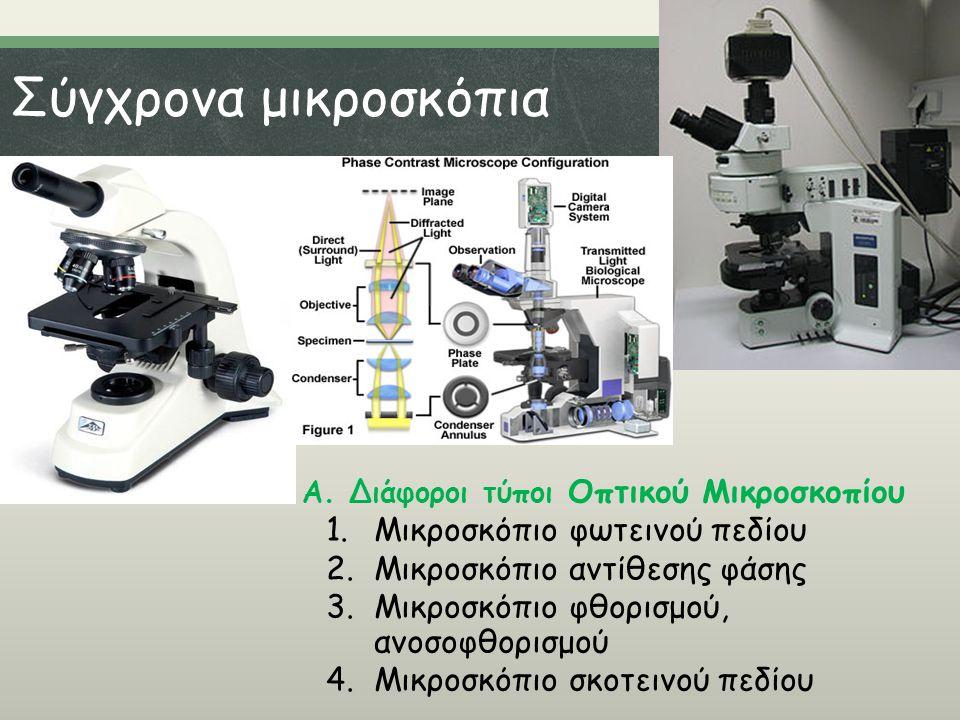 Σύγχρονα μικροσκόπια Μικροσκόπιο φωτεινού πεδίου