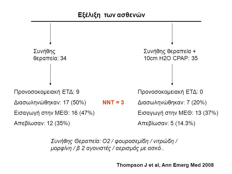 Εξέλιξη των ασθενών Συνήθης θεραπεία: 34