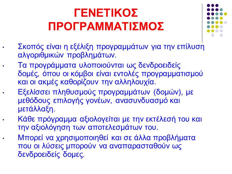 ΓΕΝΕΤΙΚΟΣ ΠΡΟΓΡΑΜΜΑΤΙΣΜΟΣ