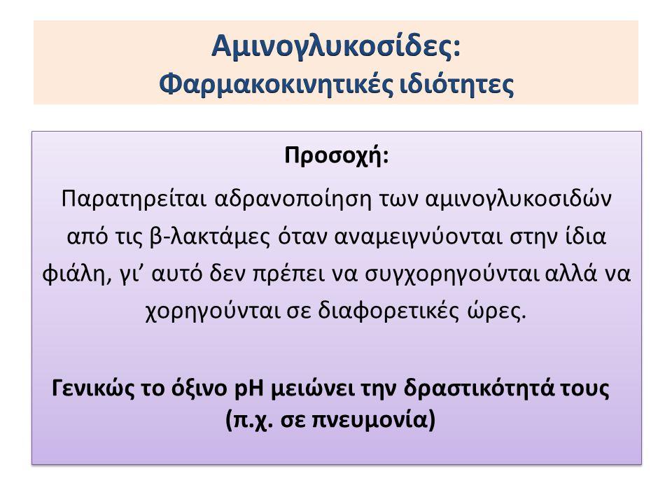 Αμινογλυκοσίδες: Φαρμακοκινητικές ιδιότητες