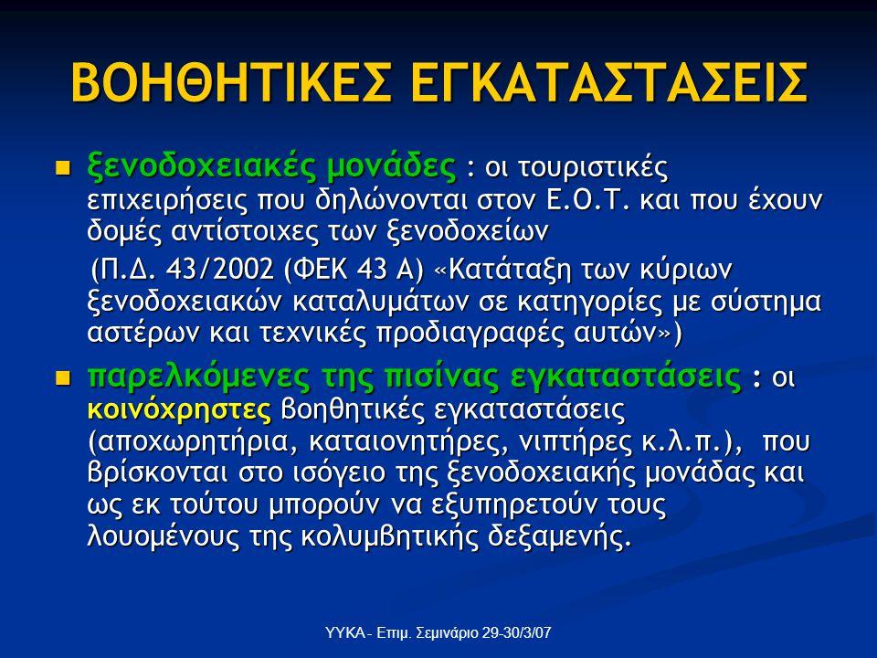 ΒΟΗΘΗΤΙΚΕΣ ΕΓΚΑΤΑΣΤΑΣΕΙΣ
