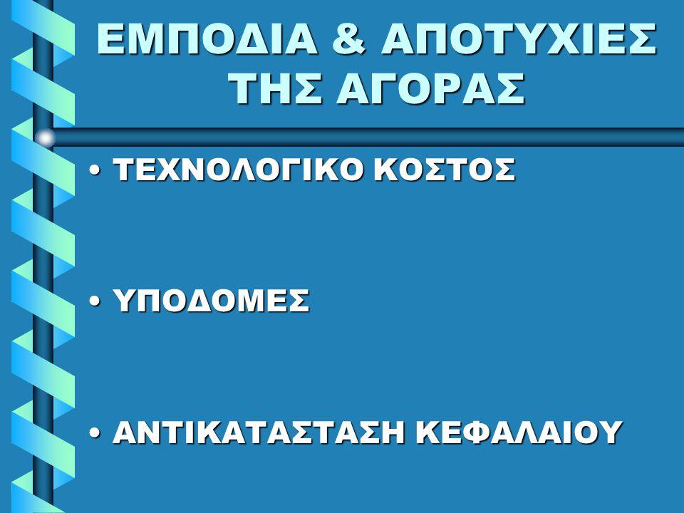 ΕΜΠΟΔΙΑ & ΑΠΟΤΥΧΙΕΣ ΤΗΣ ΑΓΟΡΑΣ