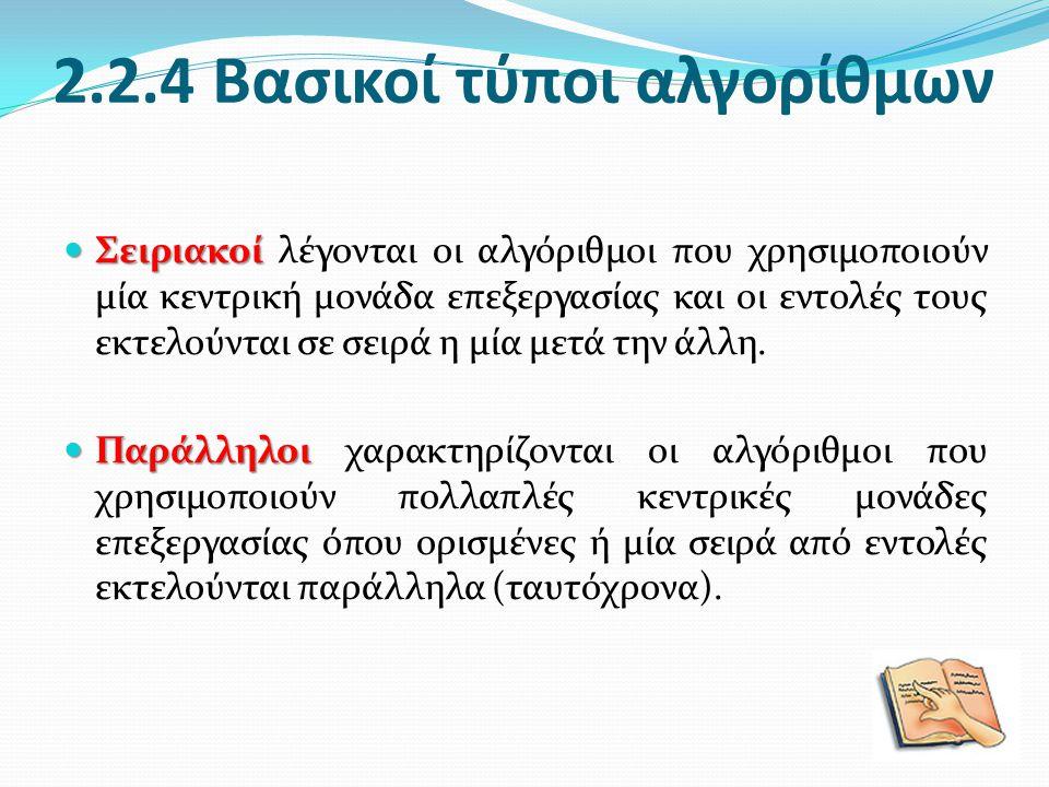 2.2.4 Βασικοί τύποι αλγορίθμων