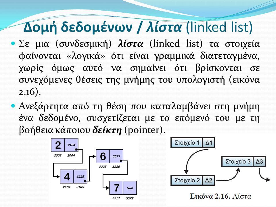 Δομή δεδομένων / λίστα (linked list)