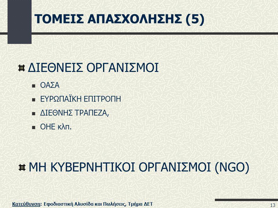 ΜΗ ΚΥΒΕΡΝΗΤΙΚΟΙ ΟΡΓΑΝΙΣΜΟΙ (NGO)