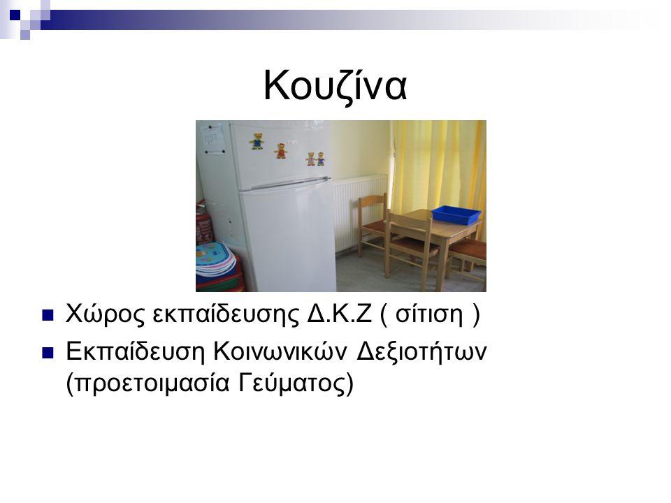 Κουζίνα Χώρος εκπαίδευσης Δ.Κ.Ζ ( σίτιση )
