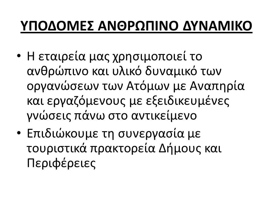 ΥΠΟΔΟΜΕΣ ΑΝΘΡΩΠΙΝΟ ΔΥΝΑΜΙΚΟ