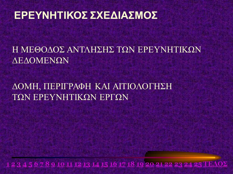 ΕΡΕΥΝΗΤΙΚΟΣ ΣΧΕΔΙΑΣΜΟΣ