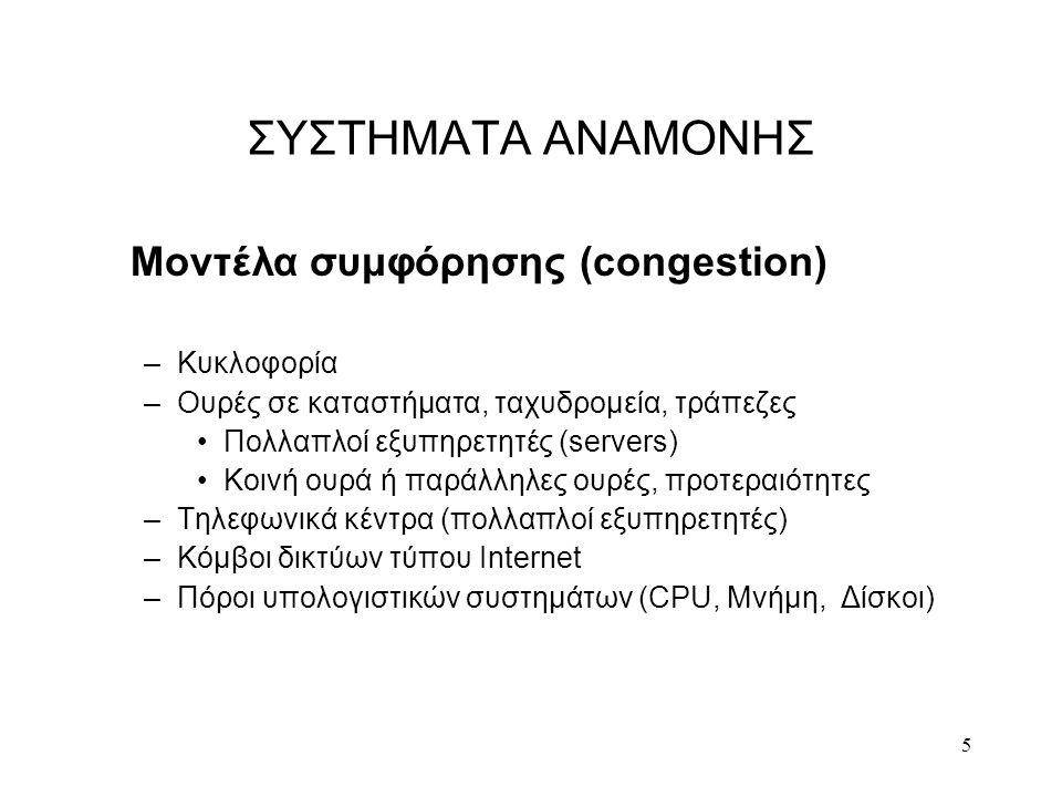 Μοντέλα συμφόρησης (congestion)