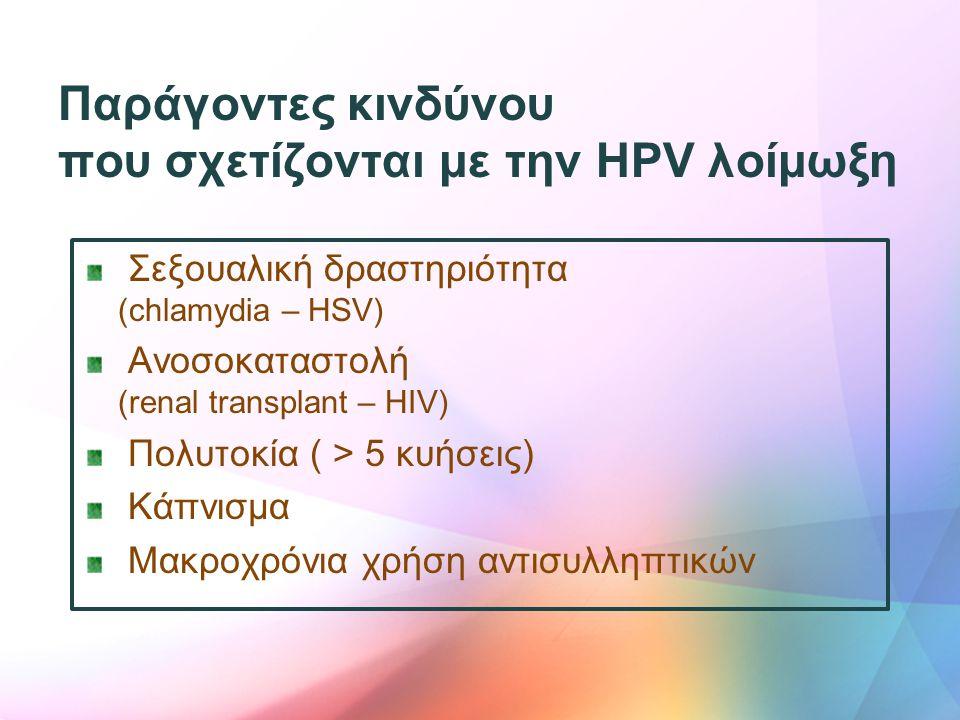 που σχετίζονται με την HPV λοίμωξη