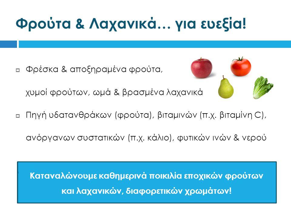 Φρούτα & Λαχανικά… για ευεξία!