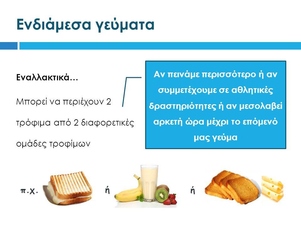Ενδιάμεσα γεύματα π.χ. ή ή