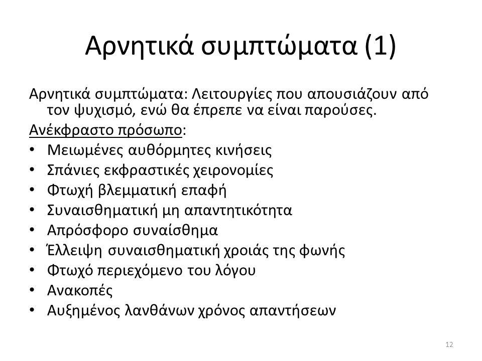 Αρνητικά συμπτώματα (1)