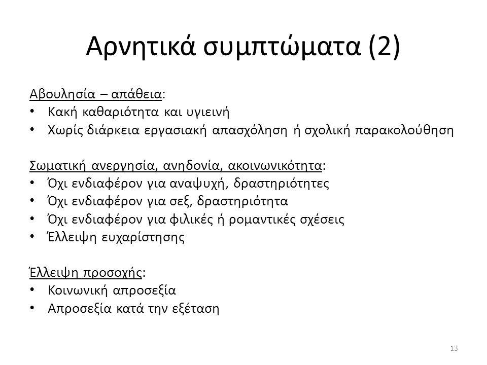 Αρνητικά συμπτώματα (2)