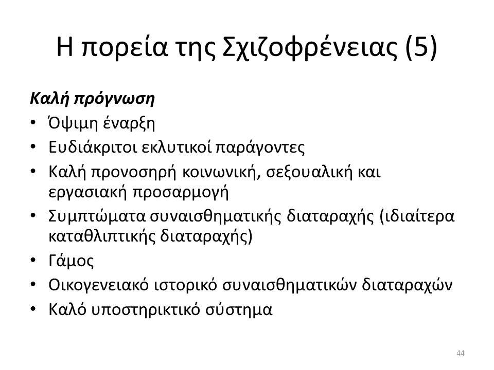 Η πορεία της Σχιζοφρένειας (5)