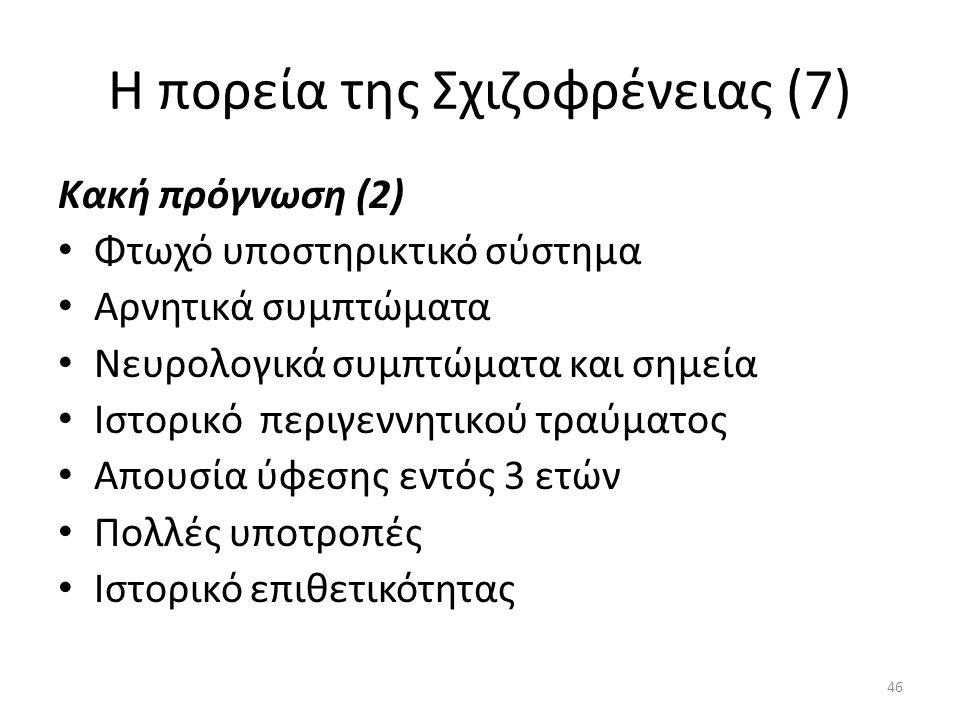 Η πορεία της Σχιζοφρένειας (7)