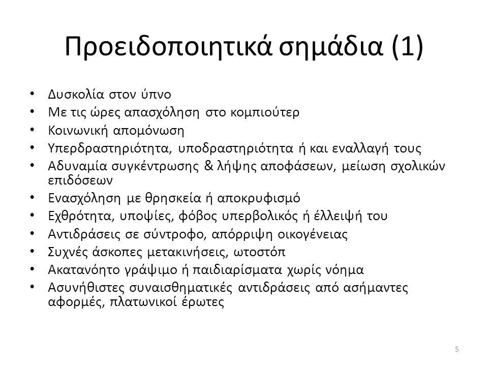 Προειδοποιητικά σημάδια (1)