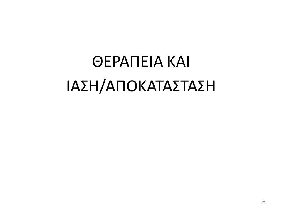 ΘΕΡΑΠΕΙΑ ΚΑΙ ΙΑΣΗ/ΑΠΟΚΑΤΑΣΤΑΣΗ