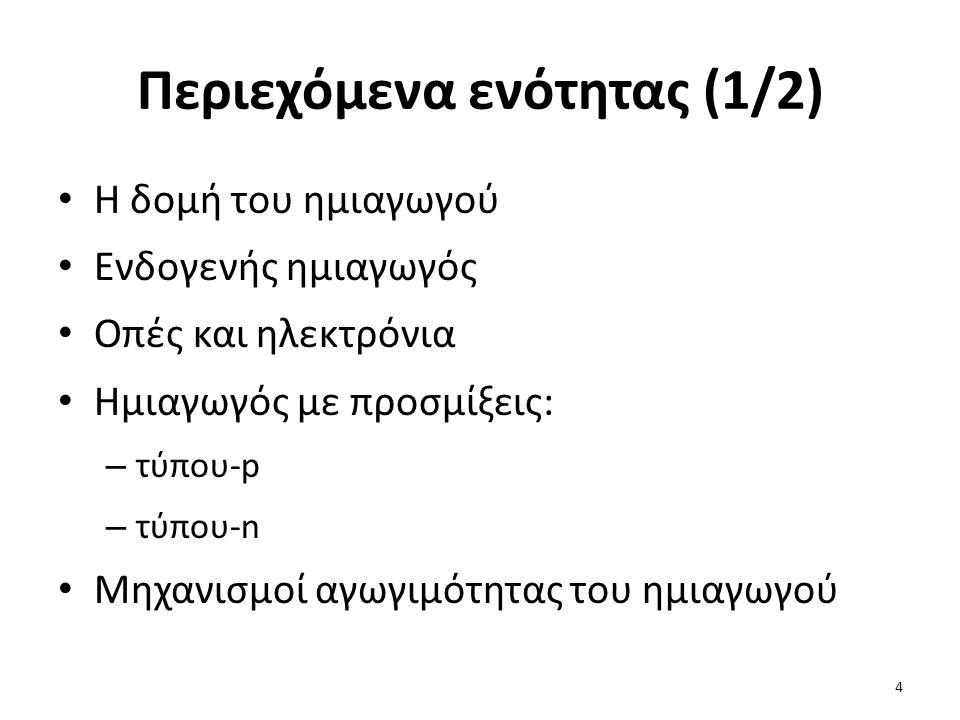 Περιεχόμενα ενότητας (1/2)