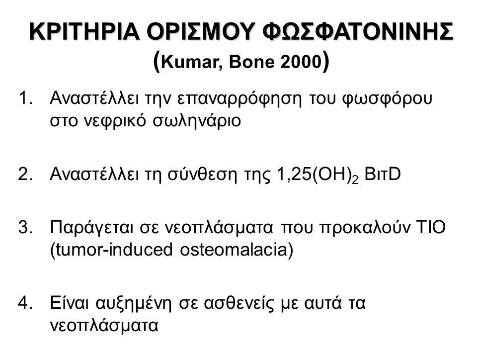 ΚΡΙΤΗΡΙΑ ΟΡΙΣΜΟΥ ΦΩΣΦΑΤΟΝΙΝΗΣ (Kumar, Bone 2000)
