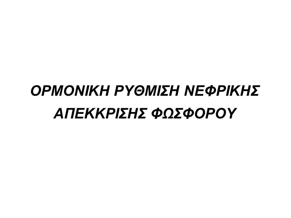 ΟΡΜΟΝΙΚΗ ΡΥΘΜΙΣΗ ΝΕΦΡΙΚΗΣ ΑΠΕΚΚΡΙΣΗΣ ΦΩΣΦΟΡΟΥ