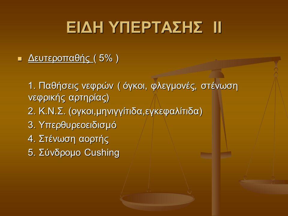 ΕΙΔΗ ΥΠΕΡΤΑΣΗΣ ΙΙ Δευτεροπαθής ( 5% )