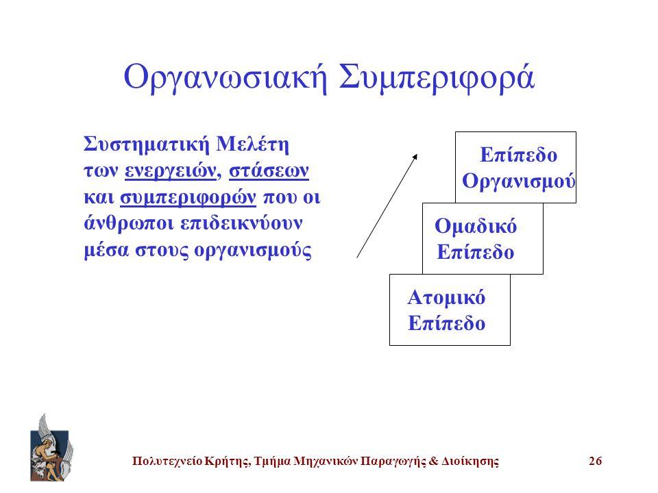 Οργανωσιακή Συμπεριφορά