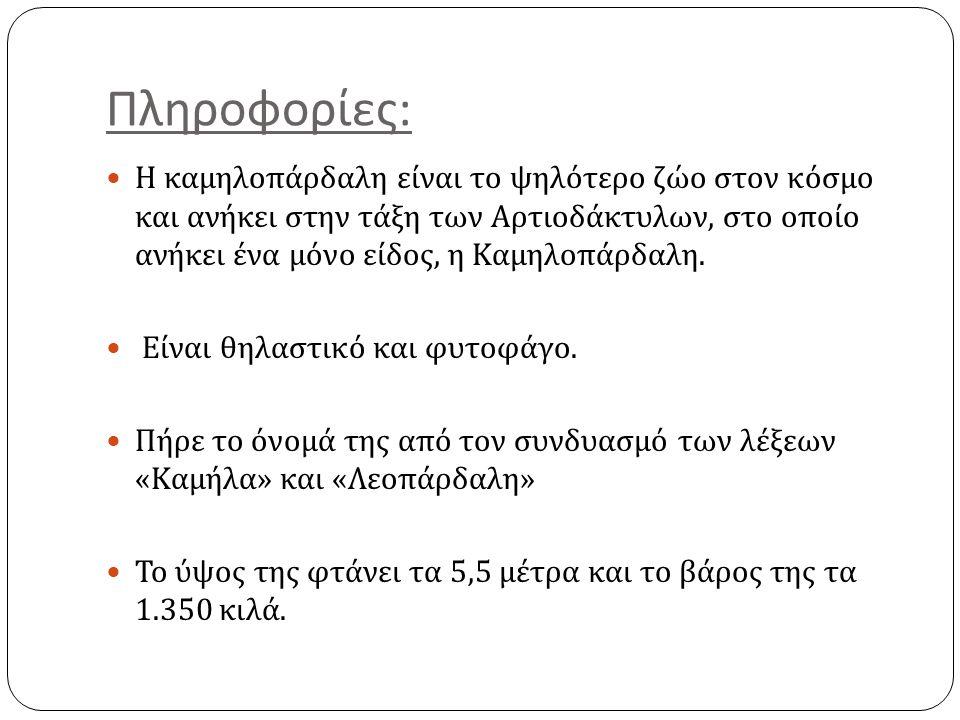 Πληροφορίες: