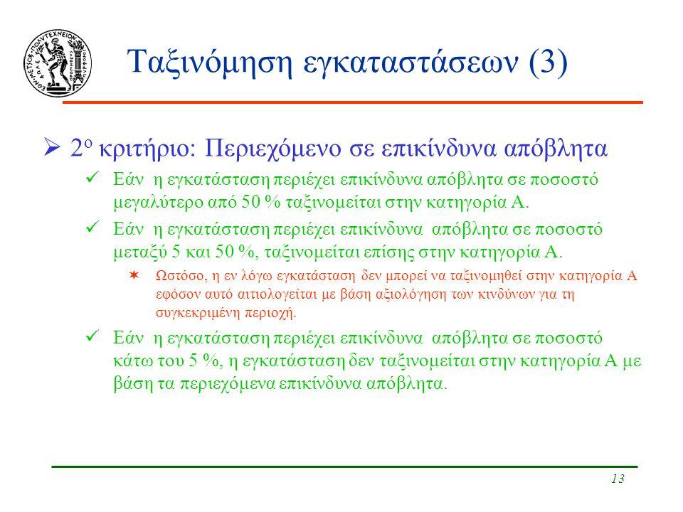 Ταξινόμηση εγκαταστάσεων (3)