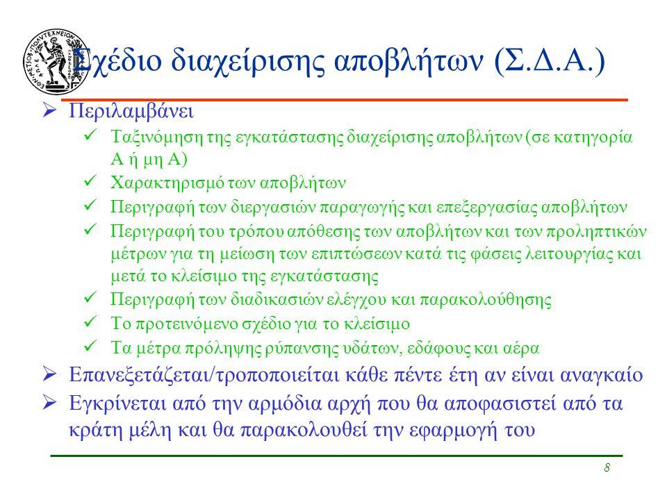 Σχέδιο διαχείρισης αποβλήτων (Σ.Δ.Α.)