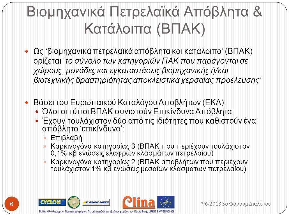 Βιομηχανικά Πετρελαϊκά Απόβλητα & Κατάλοιπα (ΒΠΑΚ)