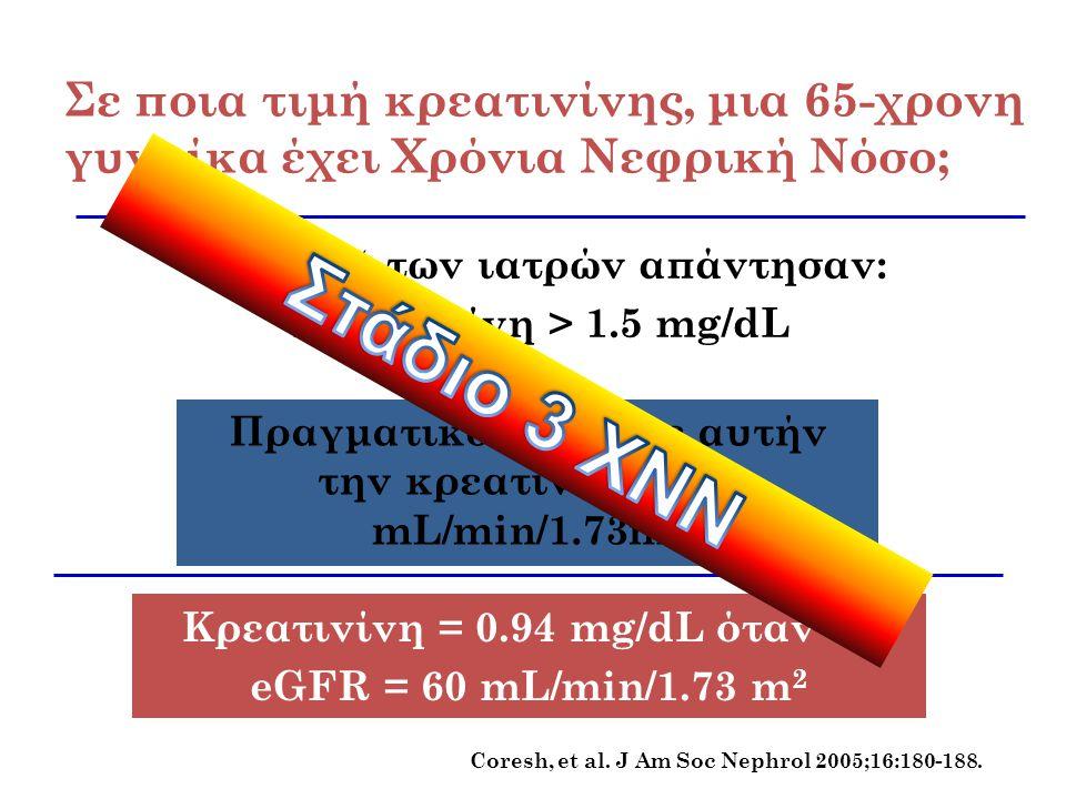 Πραγματικό eGFR σε αυτήν την κρεατινίνη = 37 mL/min/1.73m2